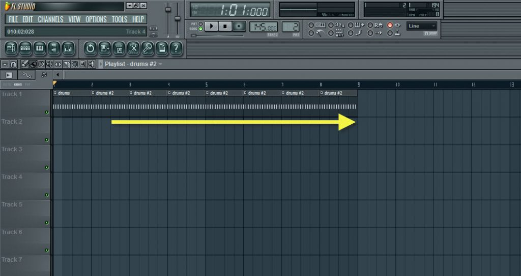 Copying And Pasting Second Drum Pattern