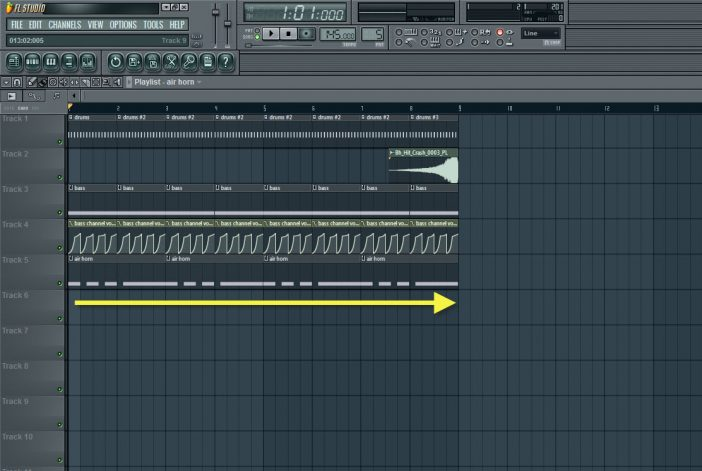Copying And Pasting The Air Horn Pattern