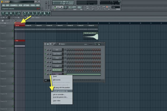 Creating Automation Clip For The Bass Channel Volume Controller