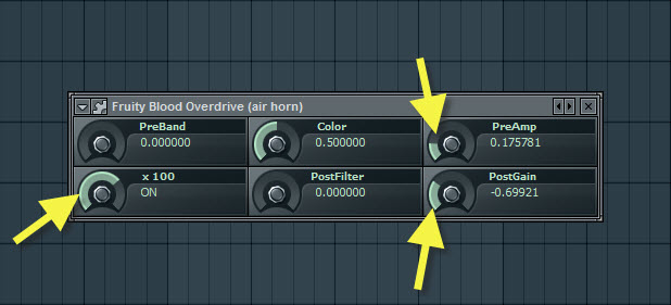Fruity Blood Overdrive Settings For Air Horn