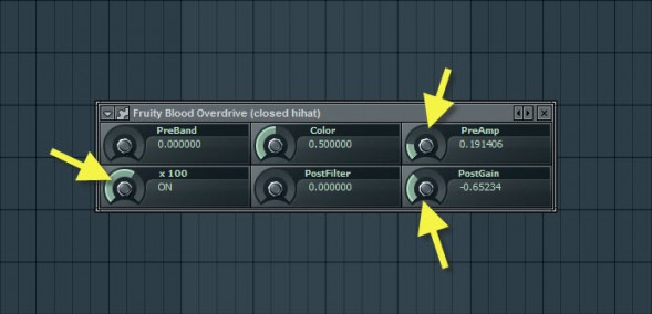 Fruity Blood Overdrive Settings For Closed Hihat