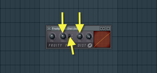 Fruity Fast Dist Settings For Kick