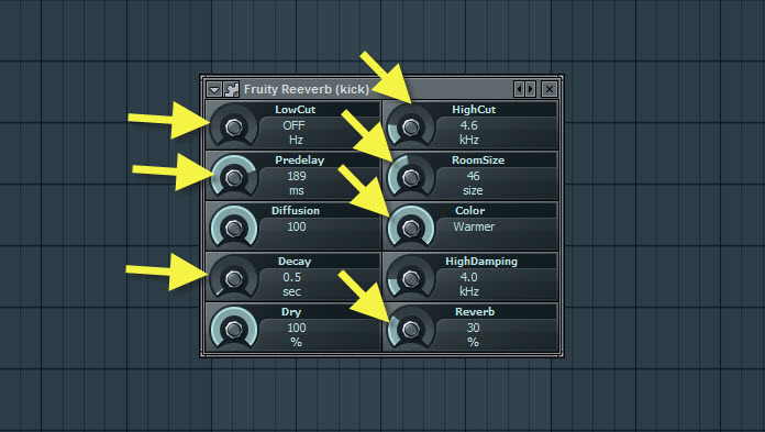 Fruity Reeverb Settings For Kick