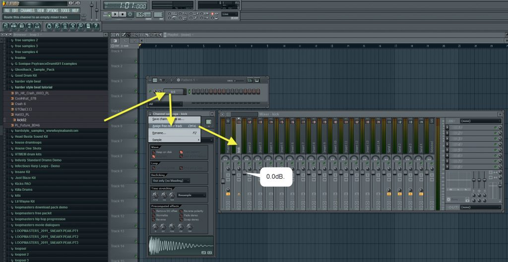 Loading And Assigning Kick Drum