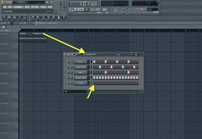 Removing The Crash From Second Drum Pattern