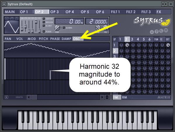 Operator 2 Harmonics Setting