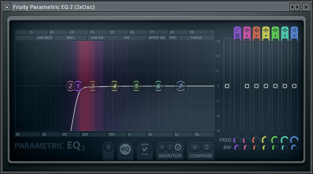 Second Method EQ Low Cut For The Sine