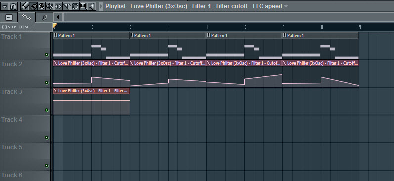 Filter Cutoff Frequency Automation Variation