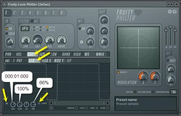 LFO Filter Modulation