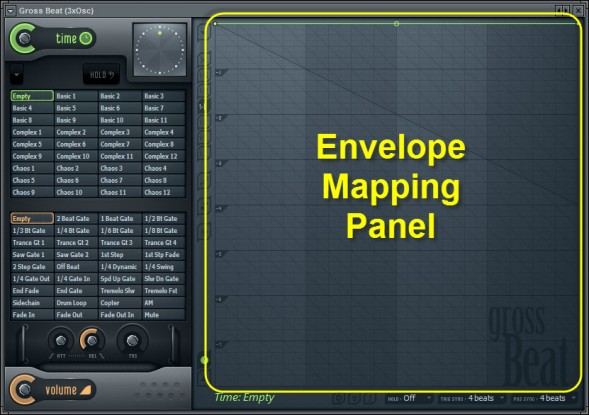 Envelope Mapping Panel Section In Gross Beat