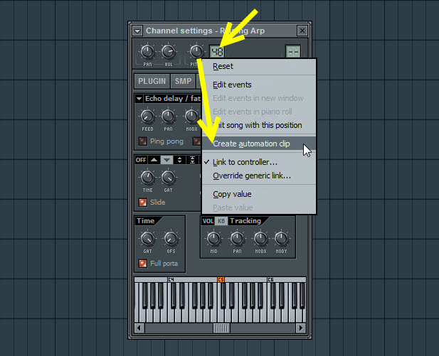 Automate Raising Arp Channel Pitch