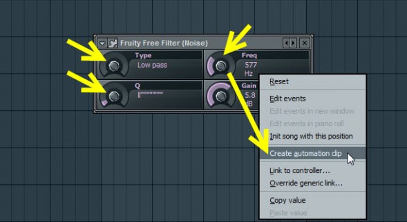 Fruity Free Filter Settings For Noise
