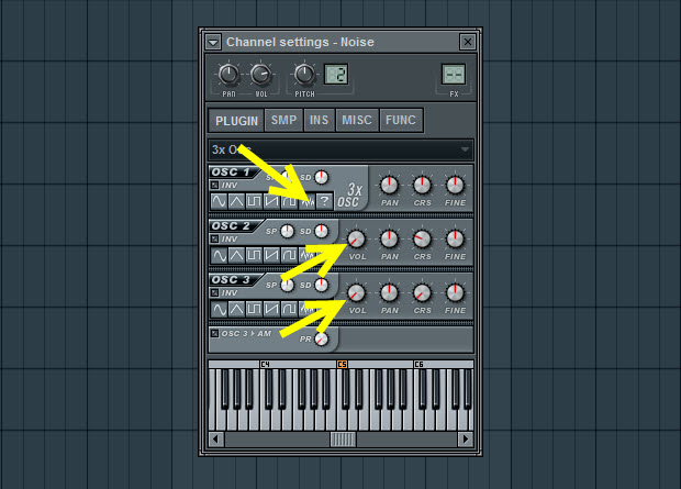 Noise Oscillator Settings