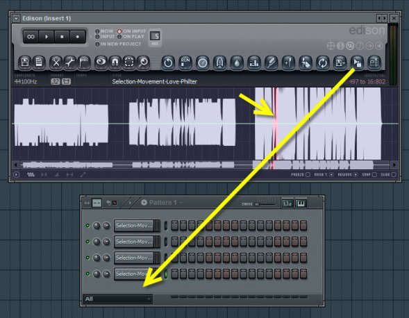 Drag And Drop Selections To Step Sequencer