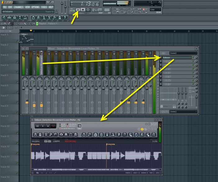 Loop Recording Glitch Sequence To Audio