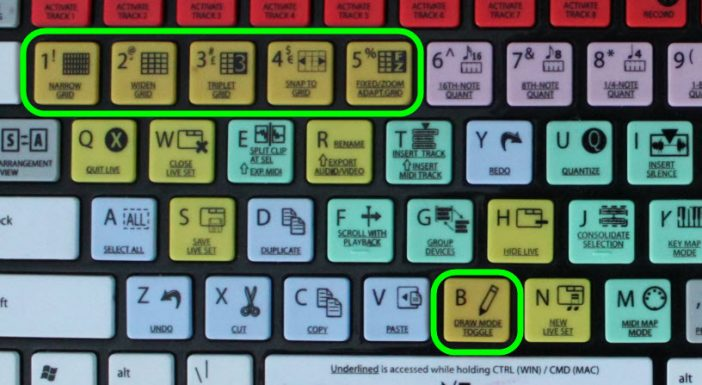 Color Grouped Keys