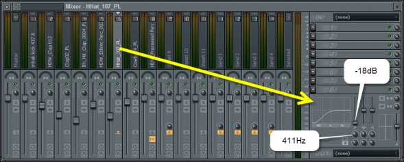 Track EQ Settings For The Open Hihat