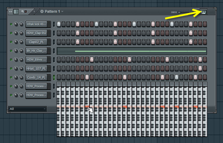 Transposing Step Sequencer Notes