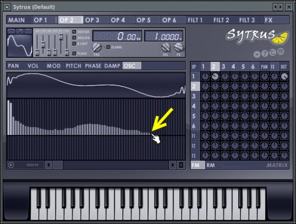Edit The Harmonics In Operator 2