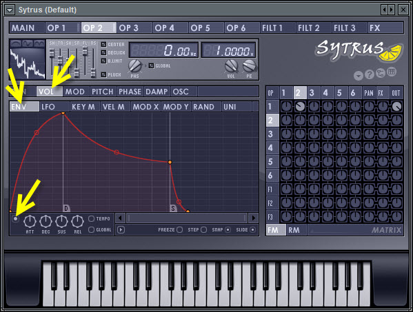Enable Volume Envelope In Operator 2