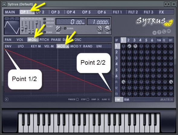 Map The Modulation Level To X Controller Knob