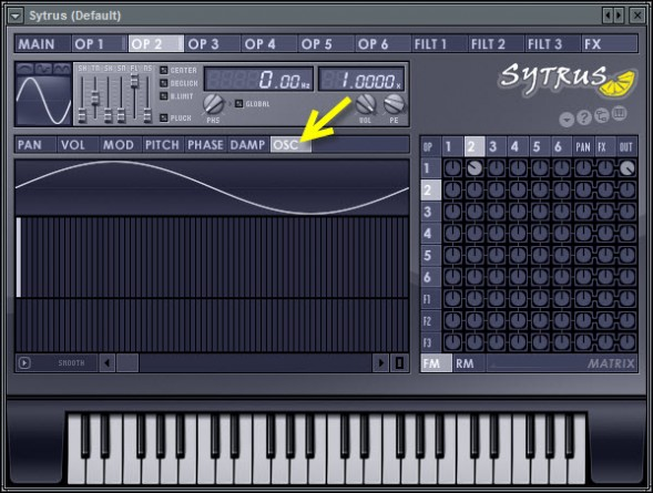 Operator 2 Harmonics Editor