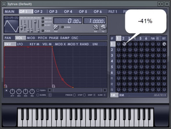 Operator 2 To 1 Modulation Level