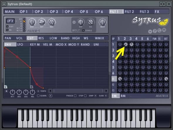 Operator 2 to 1 Modulation Level Tweak