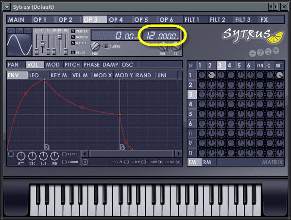 Operator 3 Frequency Ratio