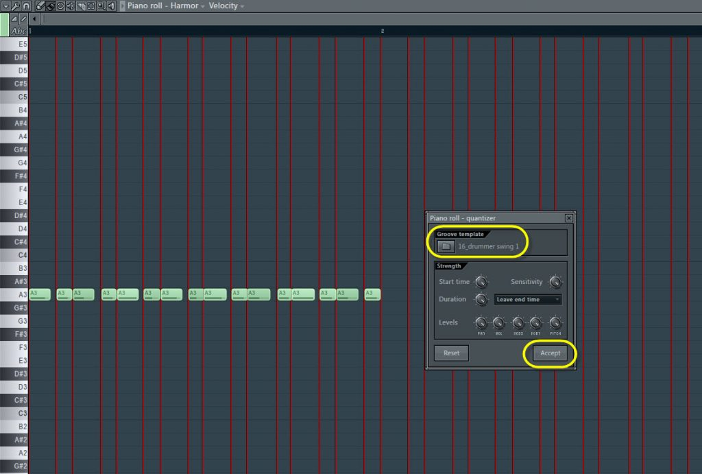 Bass Sequence Groove Template