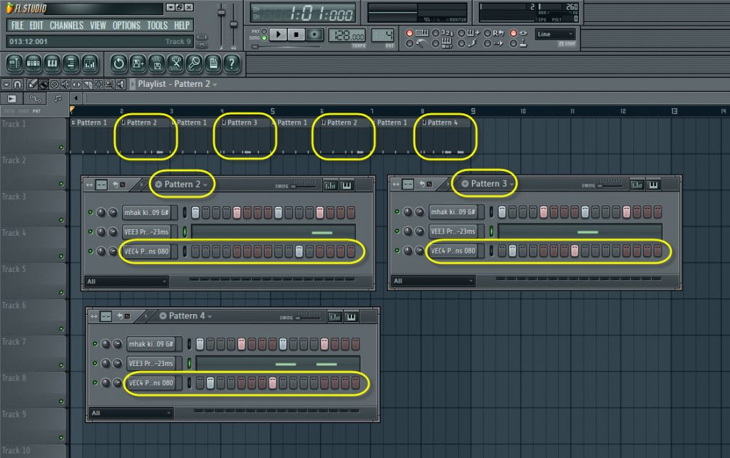 Percussion Sample In The Drum Sequence