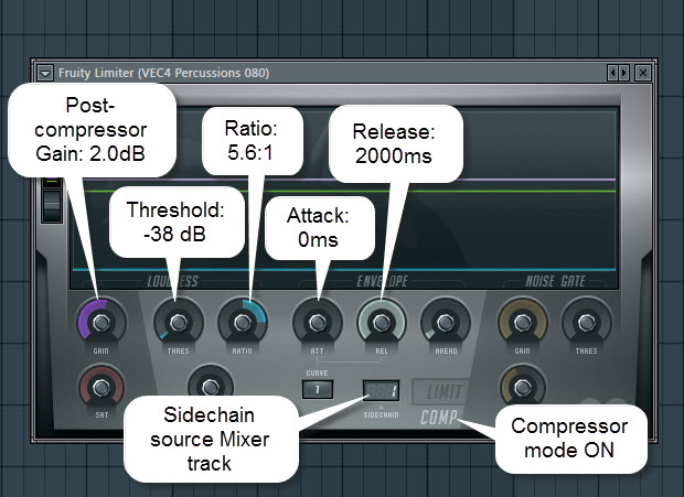 Sidechain Compression Settings