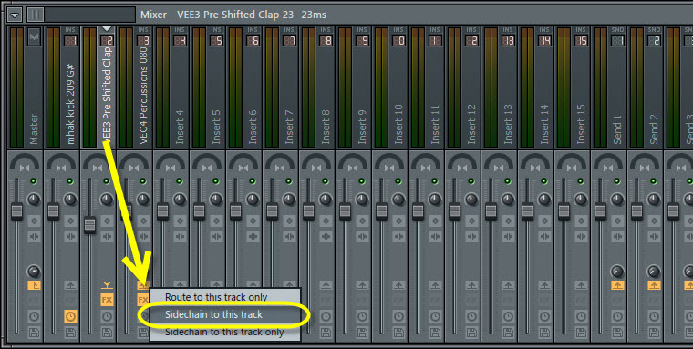 Sidechain Routing In The Mixer