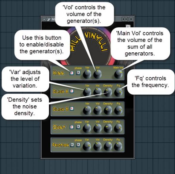 Milli Vinylli Controls