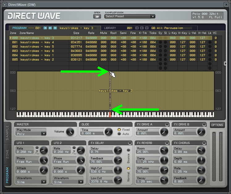 Assign The Sample To A Key