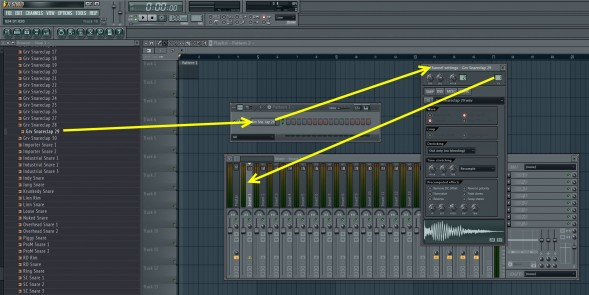Assign Sample To Mixer Track