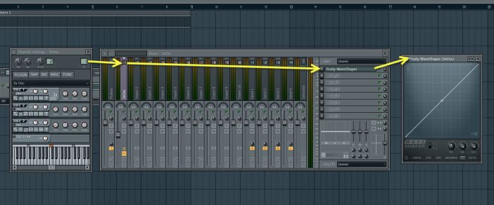 Assign 3xOsc To Mixer Track And Load WaveShaper