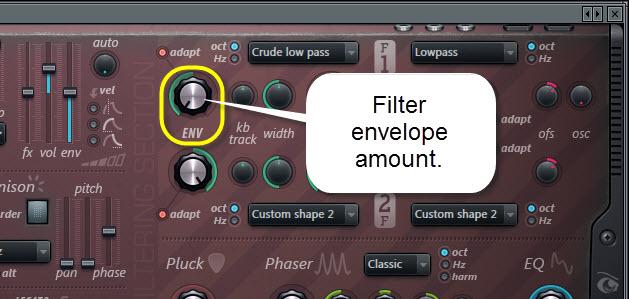 Filter Envelope Amount