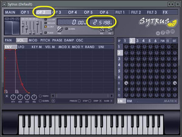 Operator 2 Frequency Ratio
