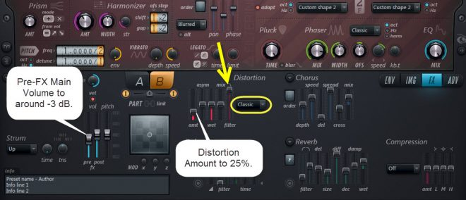 Distortion Settings For Sound 3