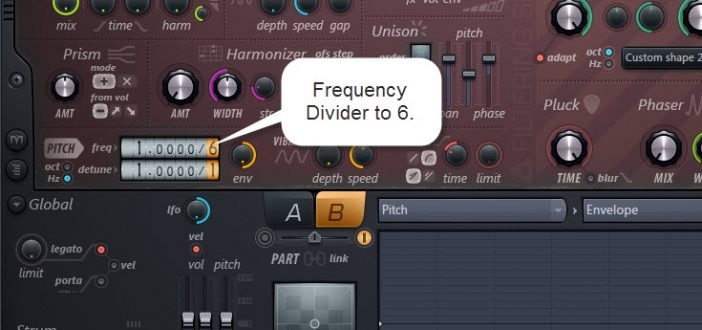 Frequency Divider Value