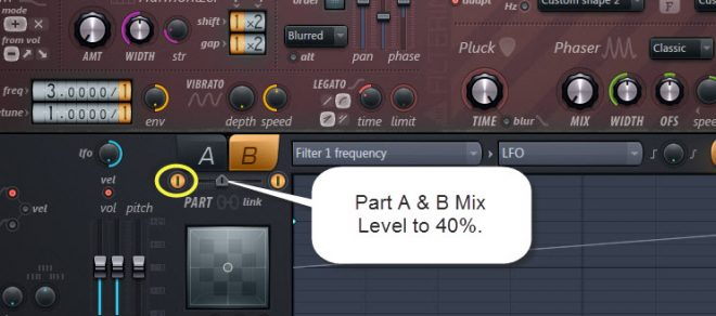 Part A And B Mix Level In Sound 2
