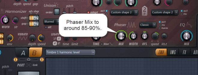 Phaser Settings For Sound 3 Part B