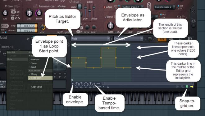 Pitch Envelope For Arpeggiator