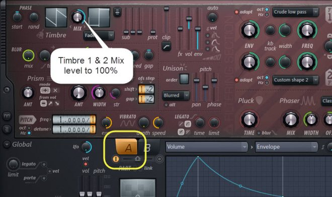 Timbre 1 And 2 Mix Level