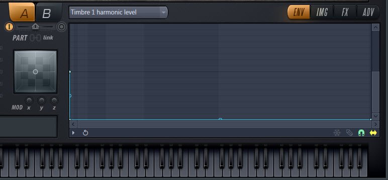 Timbre 1 Harmonic Level Envelope