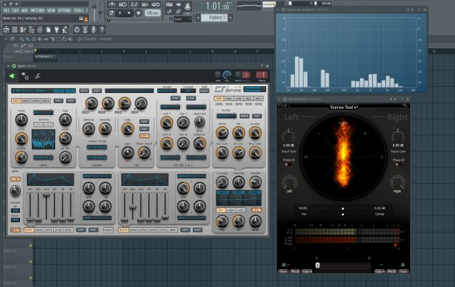 Synth Bass Preset In Stereo