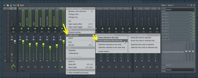 Creating A Bus Track For Drums
