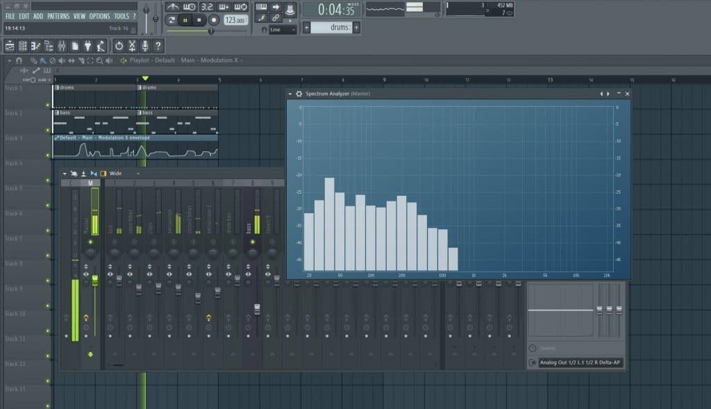 Bass Frequency Spectrum