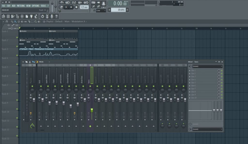 Bass Mixed With Drums